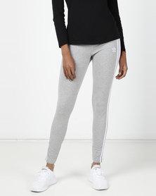 adidas Originals Ladies 3 Stripe Leggings Grey