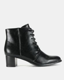 Franco Ceccato Lace Up Boots Black