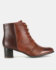 Franco Ceccato Lace Up Boots Choco