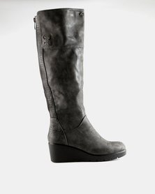 PLUM Lucy Wedge Boot Grey