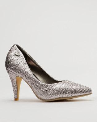 aeb5f39ab73 PLUM Wove High Heel Court Silver