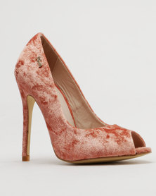 PLUM Foxy Peep toe High Heel Rust