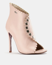 PLUM High Heel Ankle Boot Dusty Pink