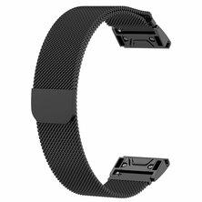 Buyitall.today Milanese Loop for Garmin Fenix 3 / 5X /5x Plus Black