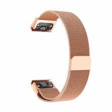 Buyitall.today Milanese Loop for Garmin Fenix 3 / 5X /5x Plus Rose Gold