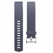 Buyitall.today Classic silicone band for Fitbit Charge 2 Grey