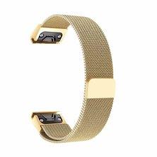 Buyitall.today Milanese Band for Garmin Fenix5/5Plus/S60/935/Quatix5 Gold