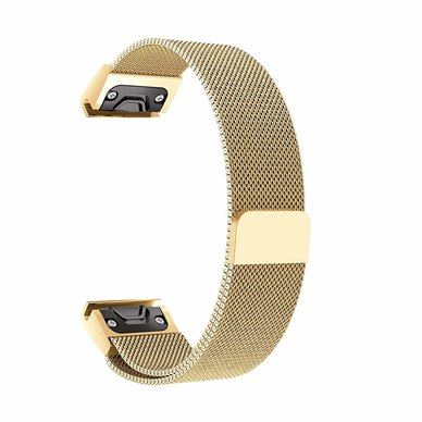 Buyitall.today Milanese Band for Garmin Fenix5/5Plus/S60/935/Quatix5 Gold