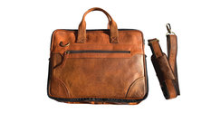 Buyitall.today Leather Laptop/Messenger Bag 18""