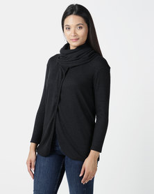 Nucleus It Wraps Cardigan in Black