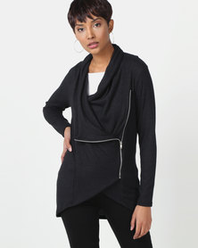 Nucleus Waiting Room Cardigan in Black