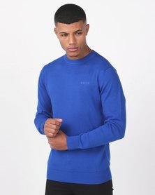 KSTR Pelican Crew Neck Knitwear Elextric Blue
