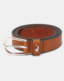 Polo Belts Zoe 25MM Leather Belt Tan