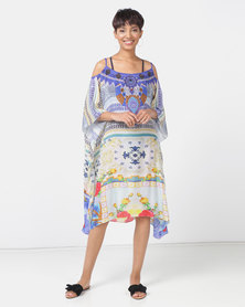 Talooshka Medium Crepe Open Shoulder Kaftan - Roma