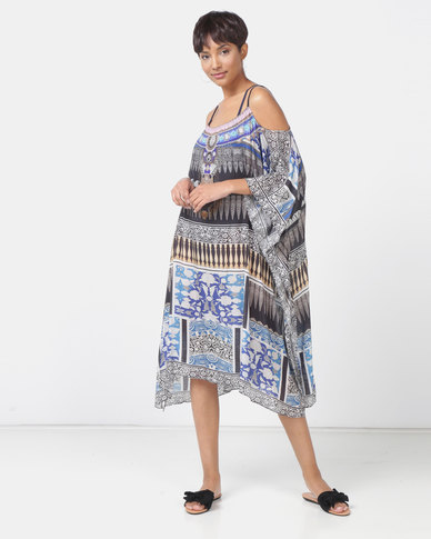 Talooshka Medium Georgette Open Shoulder Kaftan Paris