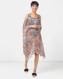 Talooshka Medium Georgette Open Shoulder Kaftan Lusaka