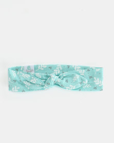 Pickallily Kids Tied Aqua with Floral