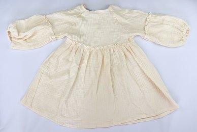 Your Baby Star Lovely Linen Long Sleeve Dress Cream