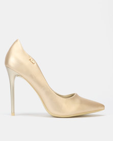 PLUM Court Heels Gold