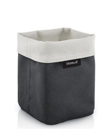 blomus Ara Small Reversible Storage Basket in Sand-Anthracite