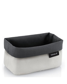blomus Ara Medium Reversible Storage Basket in Sand-Anthracite