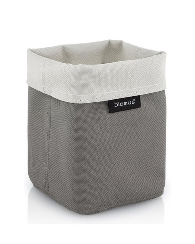 blomus Ara Small Reversible Storage Basket in Sand-Taupe