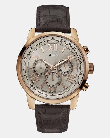 Guess Horizon Gold Watch Black