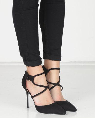 Plum Strap Court Heel Black