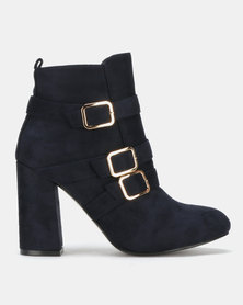 PLUM Ankle Boots Strap Navy