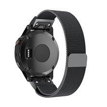 Buyitall.today Milanese Loop for Garmin Fenix 5S / 5S Plus (20mm) Black
