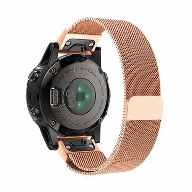 Buyitall today Milanese Loop for Garmin Fenix 5S / 5S Plus (20mm) Rose Gold