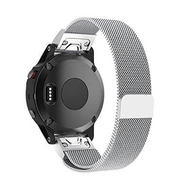 Buyitall.today Milanese Loop for Garmin Fenix 5S / 5S Plus (20mm) Silver