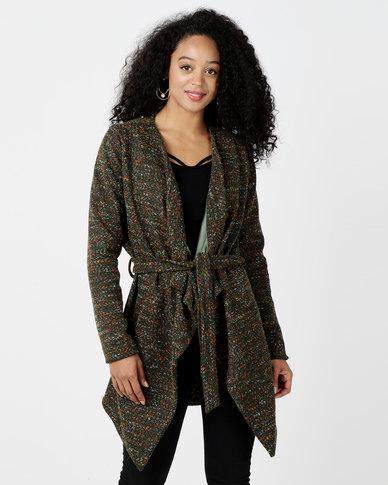 JanaS Jane Knitted Coat Olive