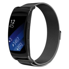 Buyitall.today Milanese Band for Samsung Gear Fit2 Pro/ Fit2 Black
