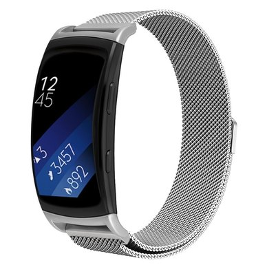 Buyitall.today Milanese Band for Samsung Gear Fit2 Pro/ Fit2 Silver