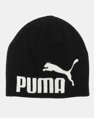 save off 655c4 701f3 Puma Sportstyle Core Essential Big Cat Beanie Black