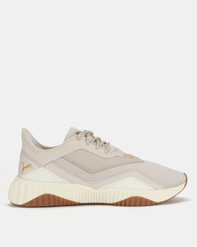 Puma Performance Womens Defy Stitched Sneakers Grey