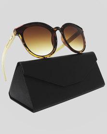 Skone Bahamas Tortoise Shell Smokey Brown UV400 Bamboo Sunglasses