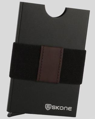 afdfcd2d5aa10e Minimalist Wallet - Card Holder & Money Clip Band - RFID Blocking-Black