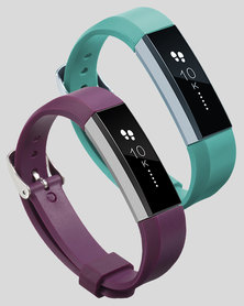 Gretmol Purple & Mint Green Fitbit Alta Sport Silicone Replacement Strap Combo