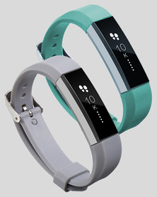 Gretmol Mint Green & Grey Fitbit Alta Sport Silicone Replacement Strap Combo
