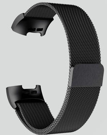 Gretmol Black Milanese Fitbit Charge 3 Replacement Strap