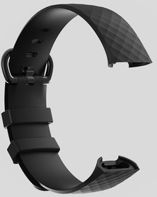 Gretmol Black Sports Silicone Watch Replacement Strap For Fitbit Charge 3