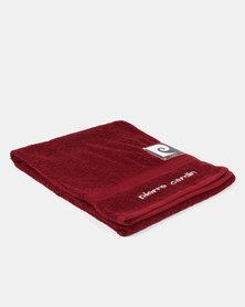 Pierre Cardin Bath Sheet Red