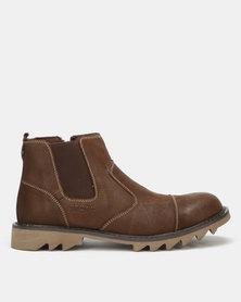 Bronx Men Glanworth Boots Coffee