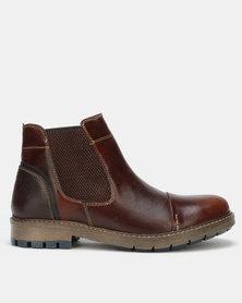 Bronx Men Hamlin Casual Boots Red Brown