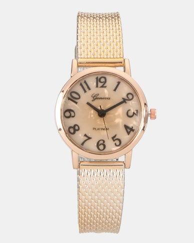 You & I Metallic Watch Rose Gold