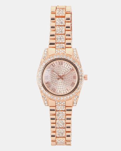 You & I Adjustable Bracelet Watch Rose Gold
