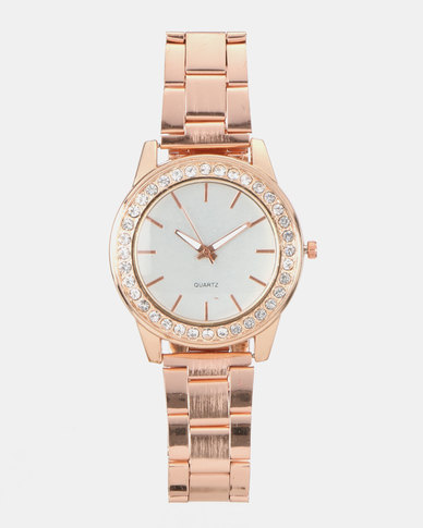 You & I Adjustable Strap Watch Rose Gold