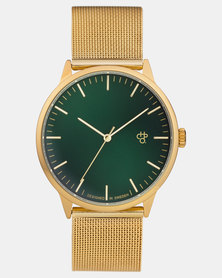 CHPO Nando Green Watch Gold-plated